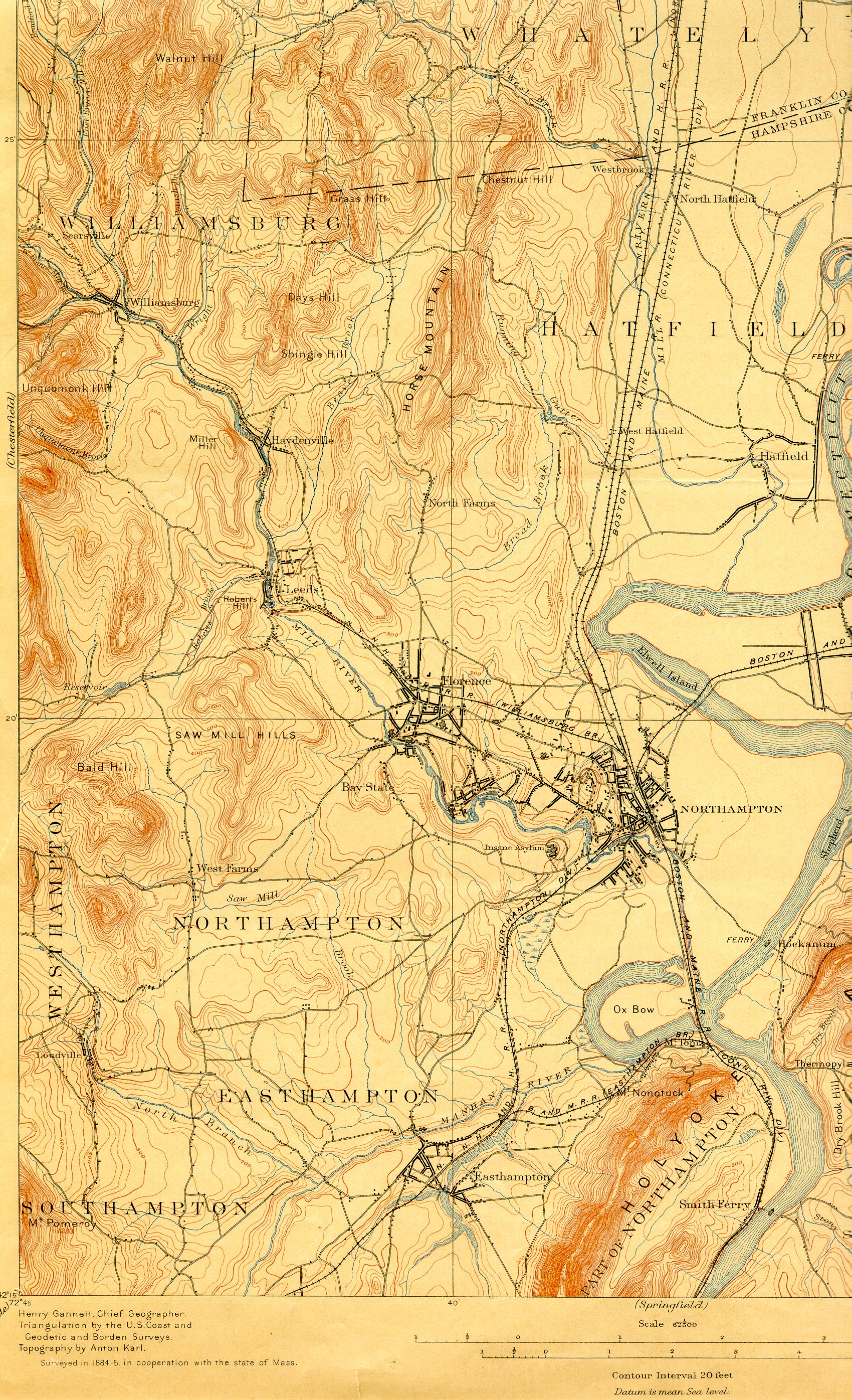A Short History Of The Mill River Watershed 1650 1940 Mill River - Map-of-us-paper-mills