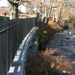 Meekins Park: new fence on restored wall. Photo: Nick Dines
