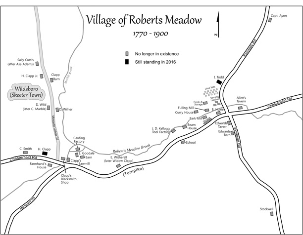 Village of Roberts Meadow by John Clapp